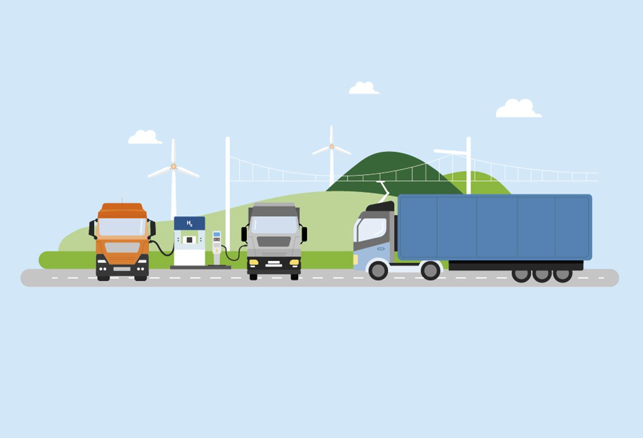 Nutzfahrzeuge mit alternativen Antrieben: Förderrichtlinie und Förderaufruf veröffentlicht